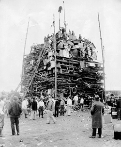 The 1930 bonfire.