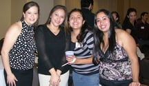 Yecenia Martinez, Fatima Madriz, and San Juana Acosta at the 2006 CLAA reunion.